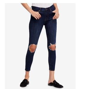 Free People buster knee jeans.